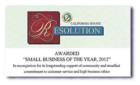 Senate Small Business of the Year Resolution